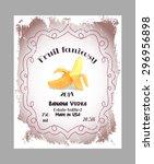 vintage fruit alcohol label.... | Shutterstock .eps vector #296956898
