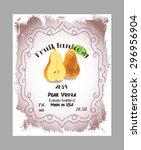 vintage fruit alcohol label.... | Shutterstock .eps vector #296956904