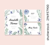 unique gentle vector wedding...   Shutterstock .eps vector #296957900