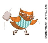 trendy owl. vector illustration. | Shutterstock .eps vector #296963528