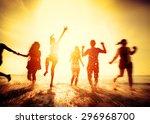 friendship freedom beach summer ... | Shutterstock . vector #296968700