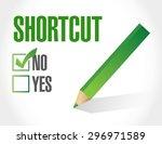 no shortcut sign concept...   Shutterstock .eps vector #296971589