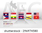 asean economic community  aec ... | Shutterstock .eps vector #296974580