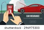 car insurance banner with man...   Shutterstock .eps vector #296975303