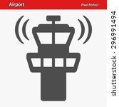 Airport Tower Icon. Eps 8...