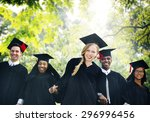 graduation students education... | Shutterstock . vector #296996456