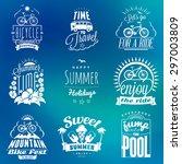 set of summer holidays badges.... | Shutterstock .eps vector #297003809