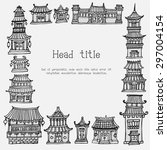 vector card template with asian ... | Shutterstock .eps vector #297004154