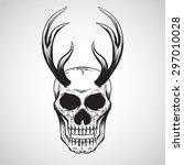 skull tattoo logo   Shutterstock .eps vector #297010028