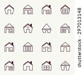 vector illustration of set of... | Shutterstock .eps vector #297013148