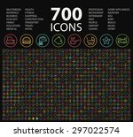 set of 700 minimal universal... | Shutterstock .eps vector #297022574