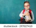 book  school  kid. | Shutterstock . vector #297027410
