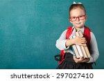 book  school  kid. | Shutterstock . vector #297027410