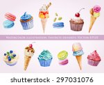 set of illustrations of ice... | Shutterstock .eps vector #297031076