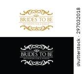 luxury vintage  crests logo... | Shutterstock .eps vector #297032018