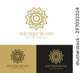 boutique brand luxury logo... | Shutterstock .eps vector #297032324