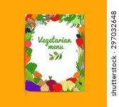 set of healthy vegetarian food. ... | Shutterstock .eps vector #297032648