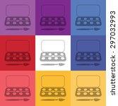 vector illustration of modern...   Shutterstock .eps vector #297032993