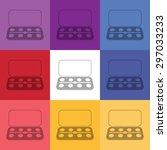 vector illustration of modern...   Shutterstock .eps vector #297033233