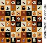 background with halloween... | Shutterstock . vector #297044303