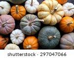 Diverse Assortment Of Pumpkins...