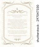 ornament  border  frame and... | Shutterstock .eps vector #297047330