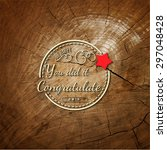 congratulation badges cards and ... | Shutterstock .eps vector #297048428