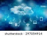 2d business cloud network | Shutterstock . vector #297054914