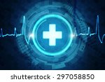 medical abstract background | Shutterstock . vector #297058850