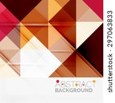 abstract geometric background.... | Shutterstock . vector #297063833