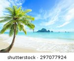 earth day concept  beautiful... | Shutterstock . vector #297077924