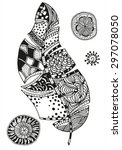 pattern for coloring book.... | Shutterstock .eps vector #297078050