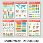 flat infographic elements set.... | Shutterstock .eps vector #297080630