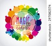 colorful background design ... | Shutterstock .eps vector #297082574
