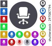 color swivel chair icon  button ...