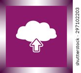 upload from cloud sign icon ... | Shutterstock .eps vector #297102203