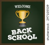 abstract back to the school... | Shutterstock .eps vector #297105539