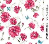beautiful gentle watercolor...   Shutterstock .eps vector #297116813