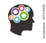mindful thinking logo | Shutterstock .eps vector #297125459