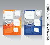 magazine cover  brochure  flyer ... | Shutterstock .eps vector #297129860