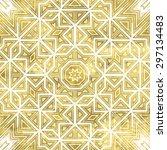 abstract ornate golden... | Shutterstock .eps vector #297134483