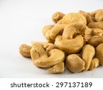 fried cashew nuts with salt...   Shutterstock . vector #297137189