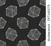 wood box doodle seamless...   Shutterstock . vector #297140273