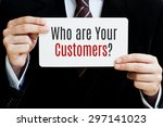 who are your customers  | Shutterstock . vector #297141023