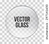 glass sphere. vector glass | Shutterstock .eps vector #297141650