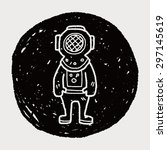 diver doodle | Shutterstock . vector #297145619