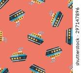 transportation ferry flat icon... | Shutterstock .eps vector #297147896