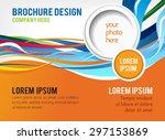 brochure design content... | Shutterstock .eps vector #297153869
