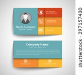 modern simple business card set ... | Shutterstock .eps vector #297157430