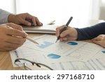 manager analyze financial... | Shutterstock . vector #297168710